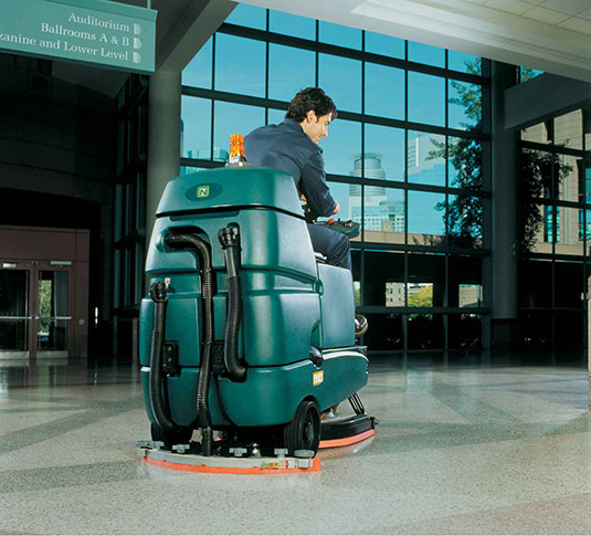 Nobles Speed Scrub Rider Scrubbing Convention center floors