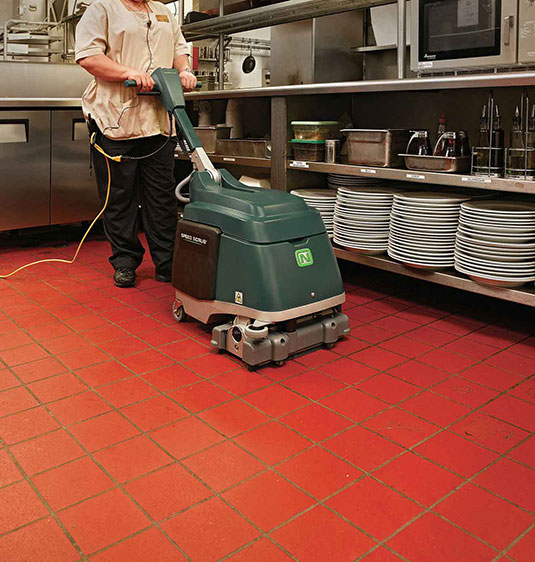 Nobles Speed Scrub 15 restaurant kitchen floor