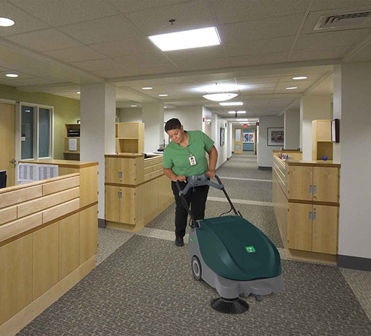 Scout 5 Compact Battery Walk-Behind Sweeper alt 2