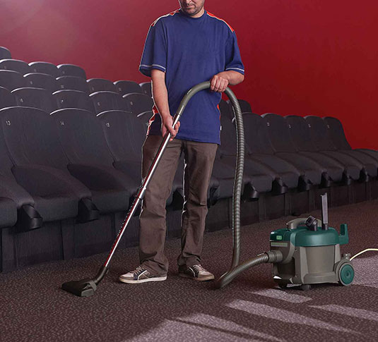 Nobles Tidy-Vac 6 canister vacuuming movie theater