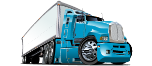 Semi truck shipping equipment