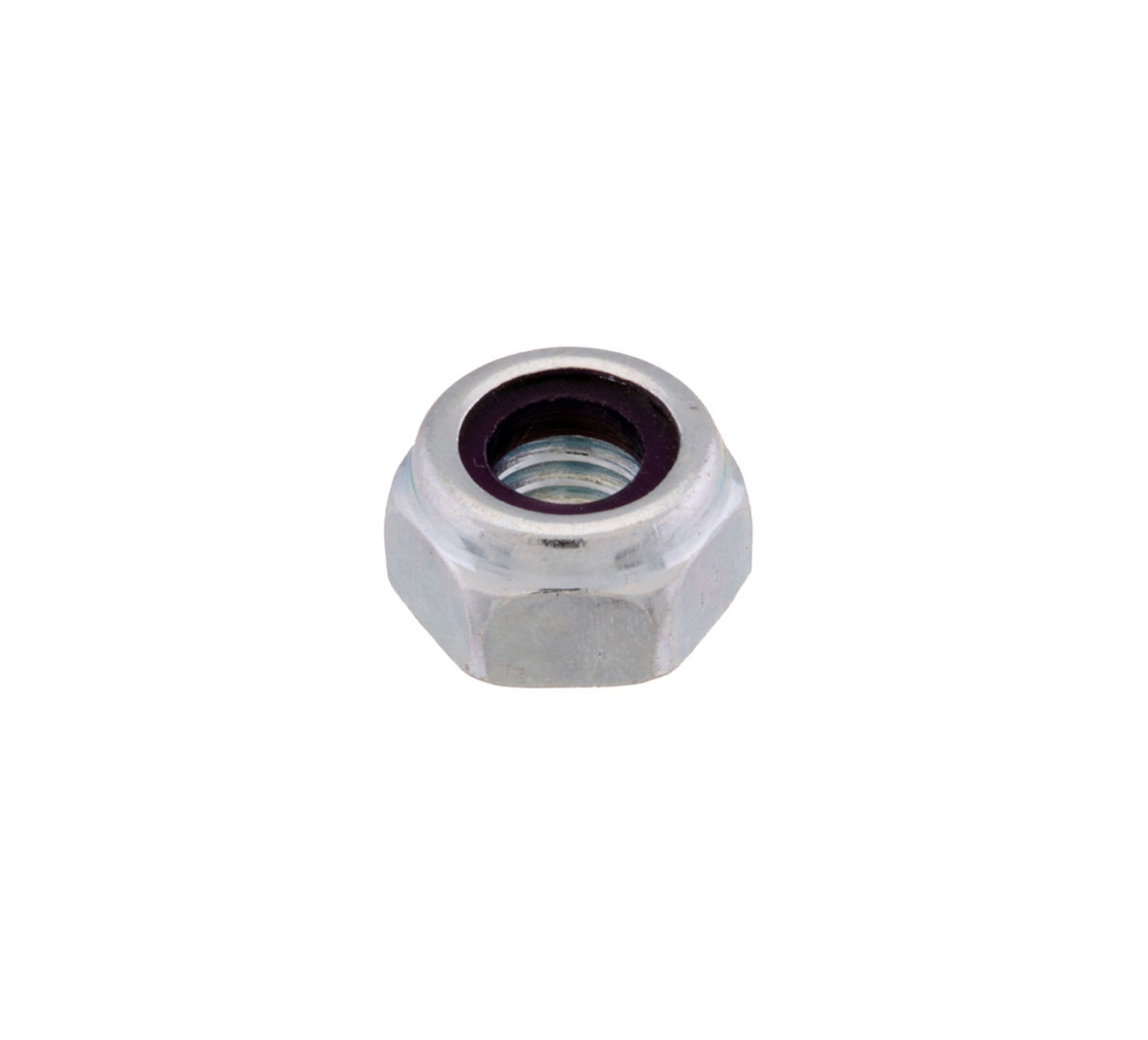 08708 Steel Hex Lock Nut - M6 Thread x 0.2 in alt 1