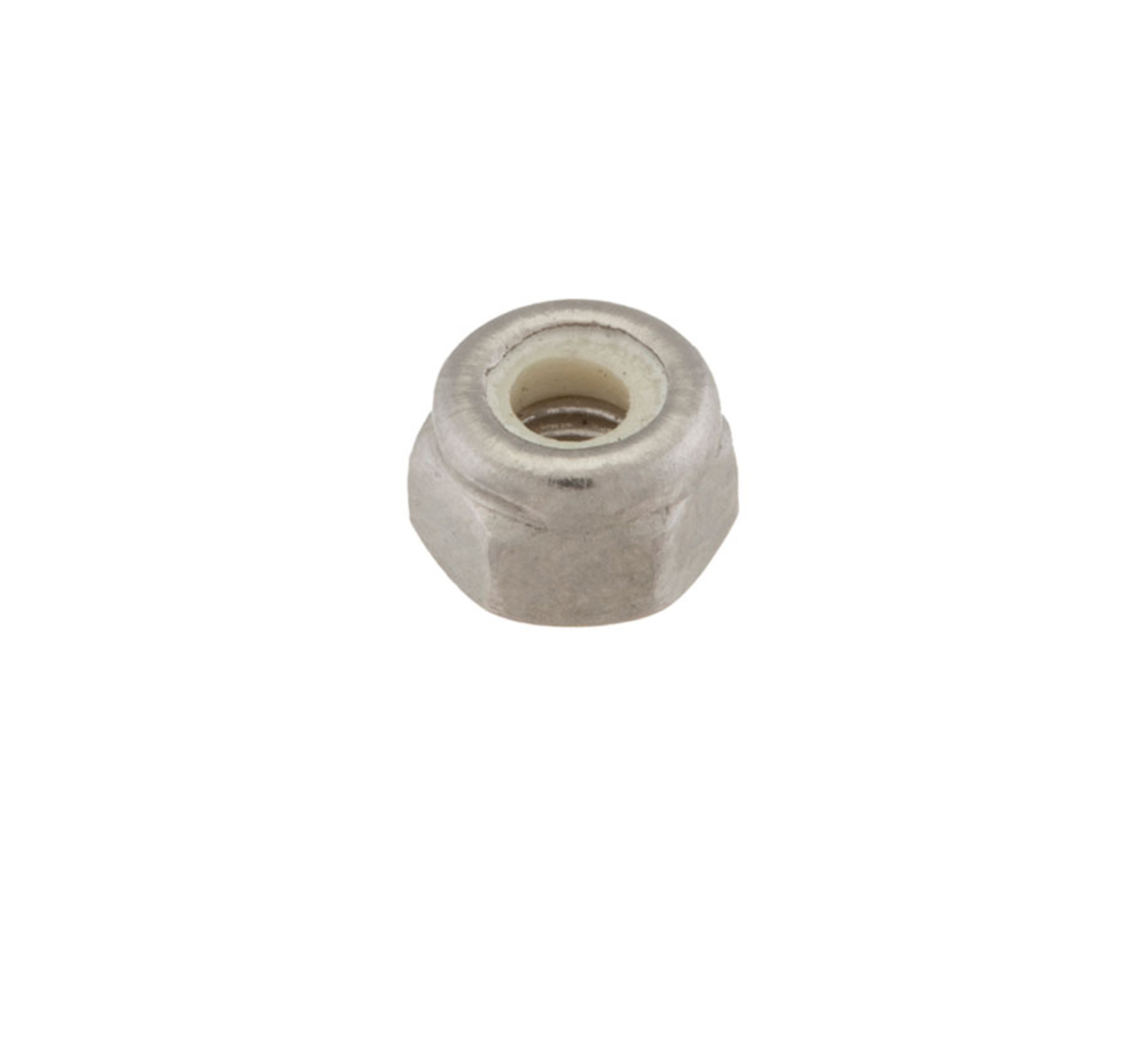 33932 Stainless Steel Hex Lock Nut - 0.304 x 0.2 in alt 1