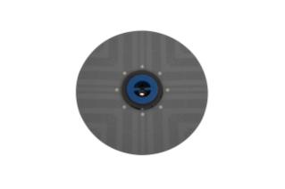 1210491 Assemblage de support à tampons 20po / 50,8cm alt